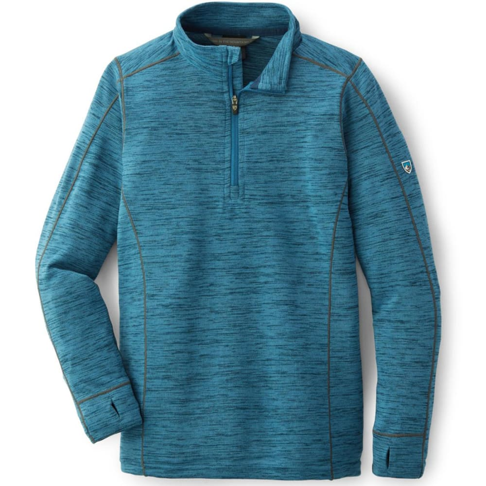 KUHL Big Boys' Alloy Quarter Zip Pullover - NEPTUNE