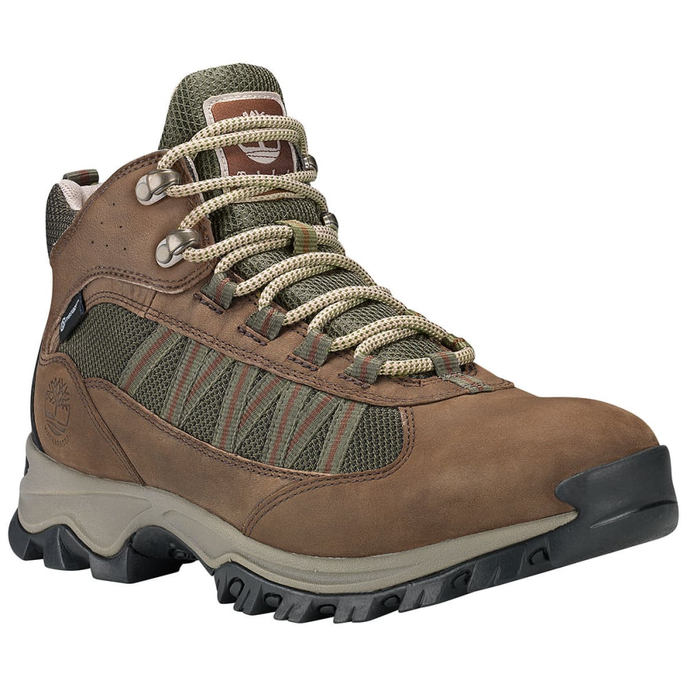 TIMBERLAND Men's Mt. Maddsen Lite Mid Waterproof Hiking Boots - DARK BROWN