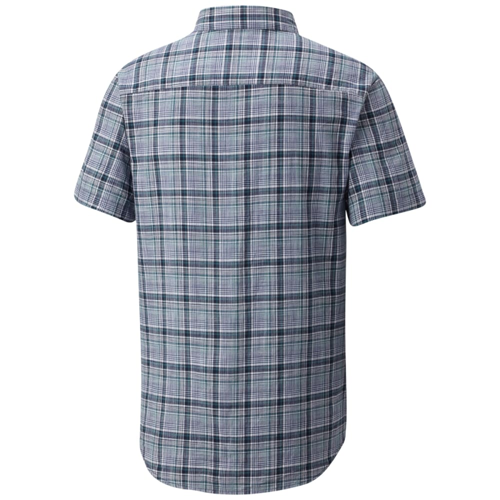 COLUMBIA Men's Under Exposure™ Yarn-Dye Short Sleeve Shirt - CARBON PLD-469