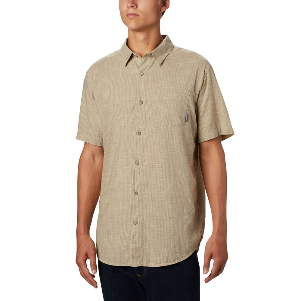 COLUMBIA Men's Under Exposure Yarn-Dye Short Sleeve Shirt M