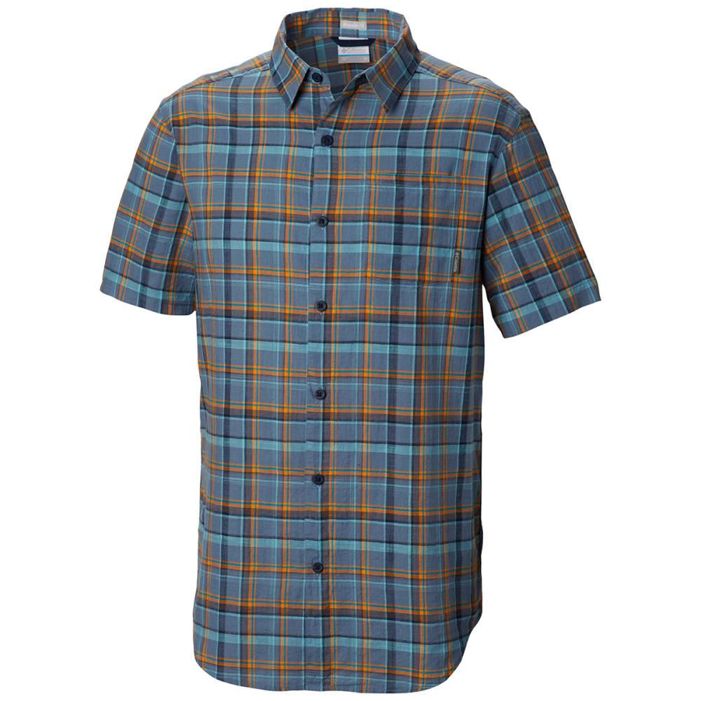 COLUMBIA Men's Under Exposure Yarn-Dye Short Sleeve Shirt - 441 MOUNTAIN PLAID