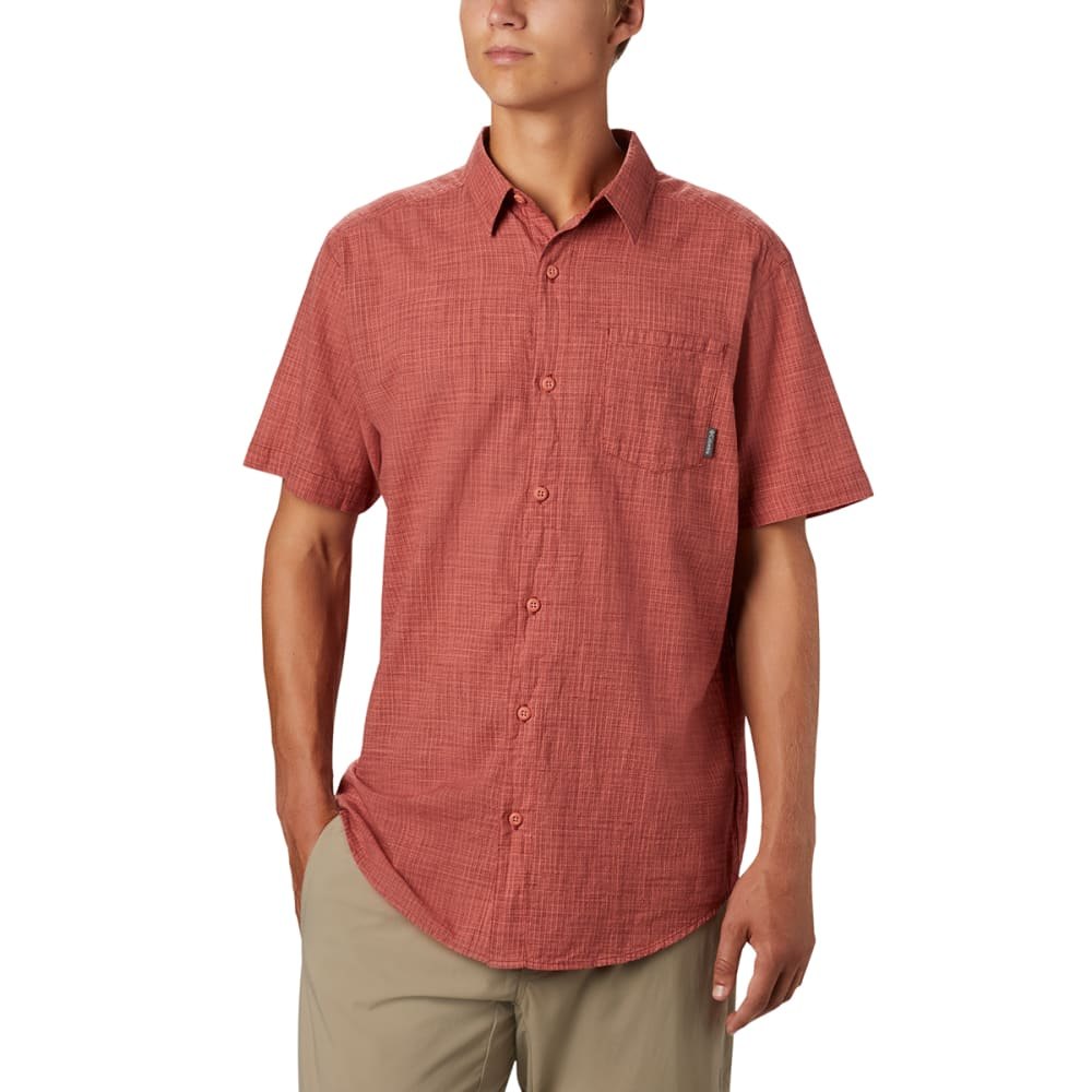 COLUMBIA Men's Under Exposure Yarn-Dye Short Sleeve Shirt S
