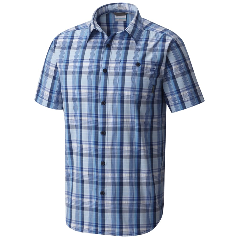 COLUMBIA Men's Boulder Ridge Short-Sleeve Shirt - AZUL PLD-437