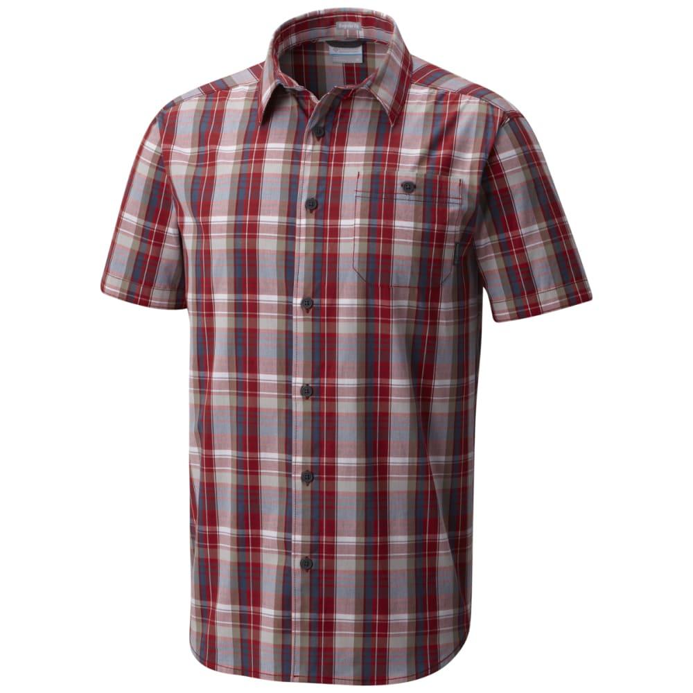 COLUMBIA Men's Boulder Ridge Short-Sleeve Shirt - RED ELEMENT-611