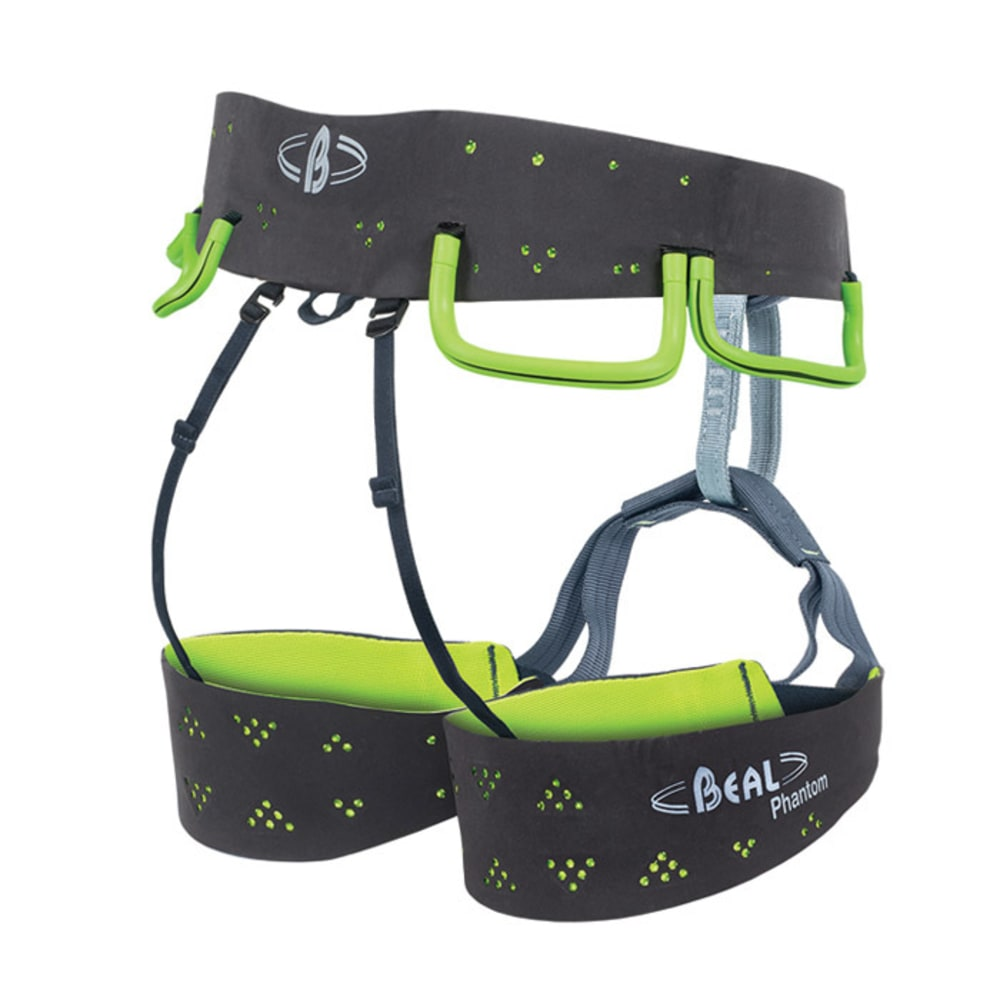 BEAL Phantom Climbing Harness - GREY/LIME