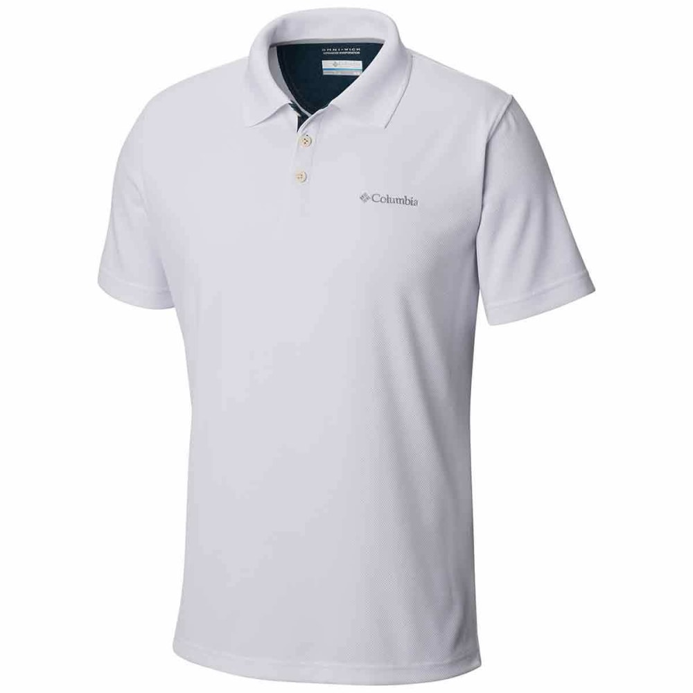 COLUMBIA Men's Utilizer Polo Shirt - WHITE-100
