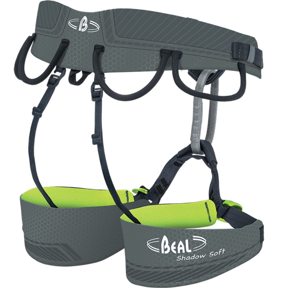 BEAL Shadow Soft Climbing Harness - GREY/LIME