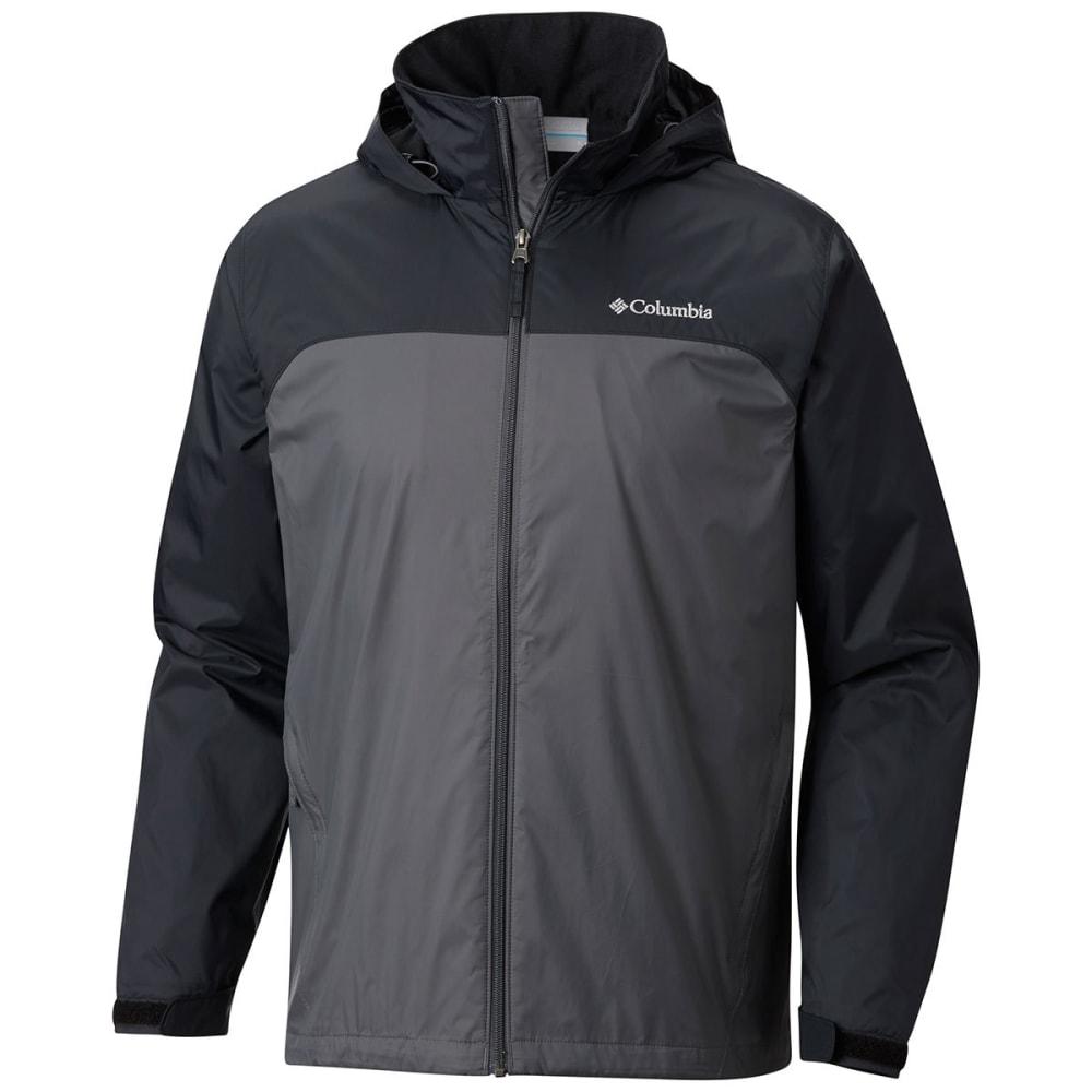COLUMBIA Men's Glennaker Lake Lined Rain Jacket - GRILL/BLK-028