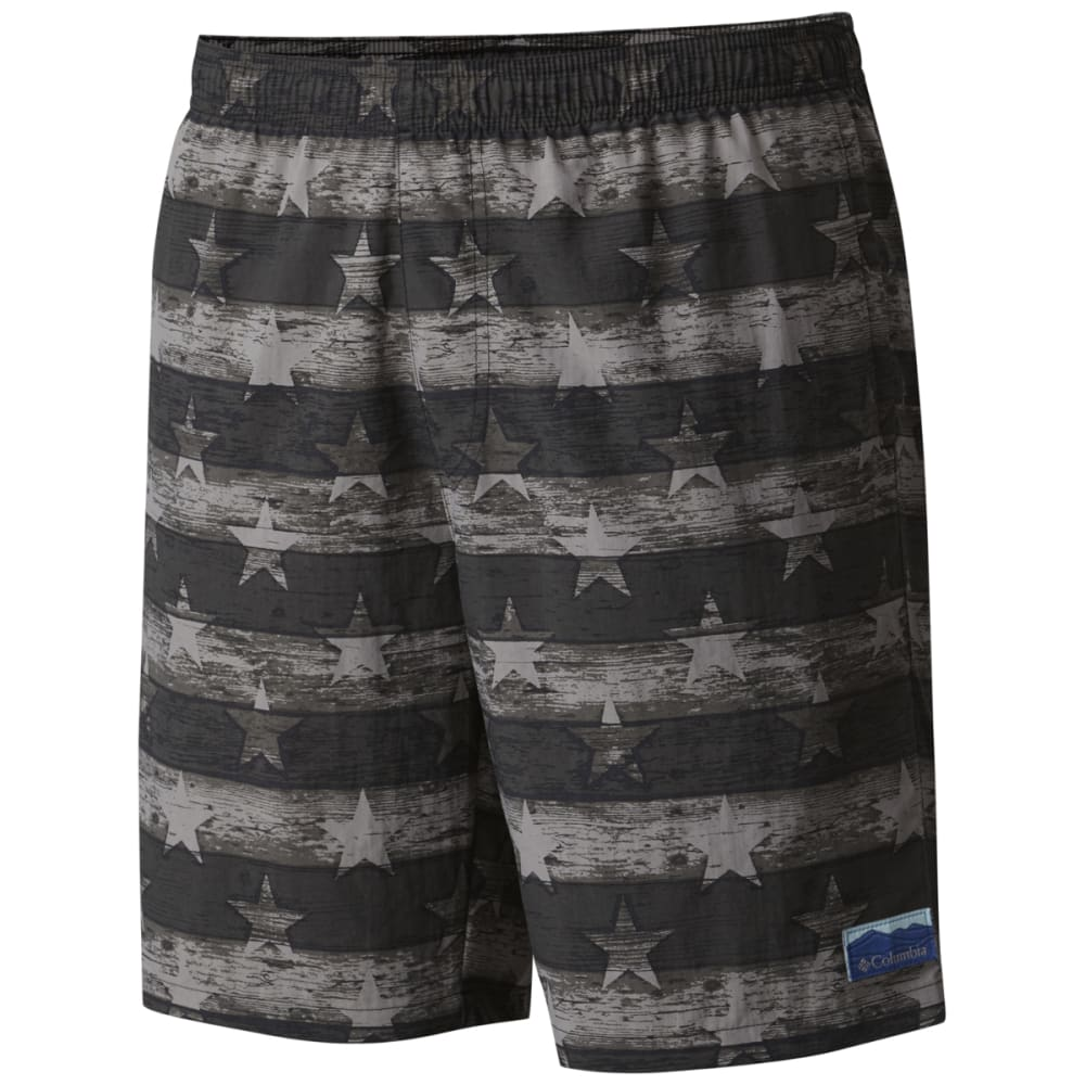 COLUMBIA Men's Big Dippers Water Shorts - BLK STR & STRP-010
