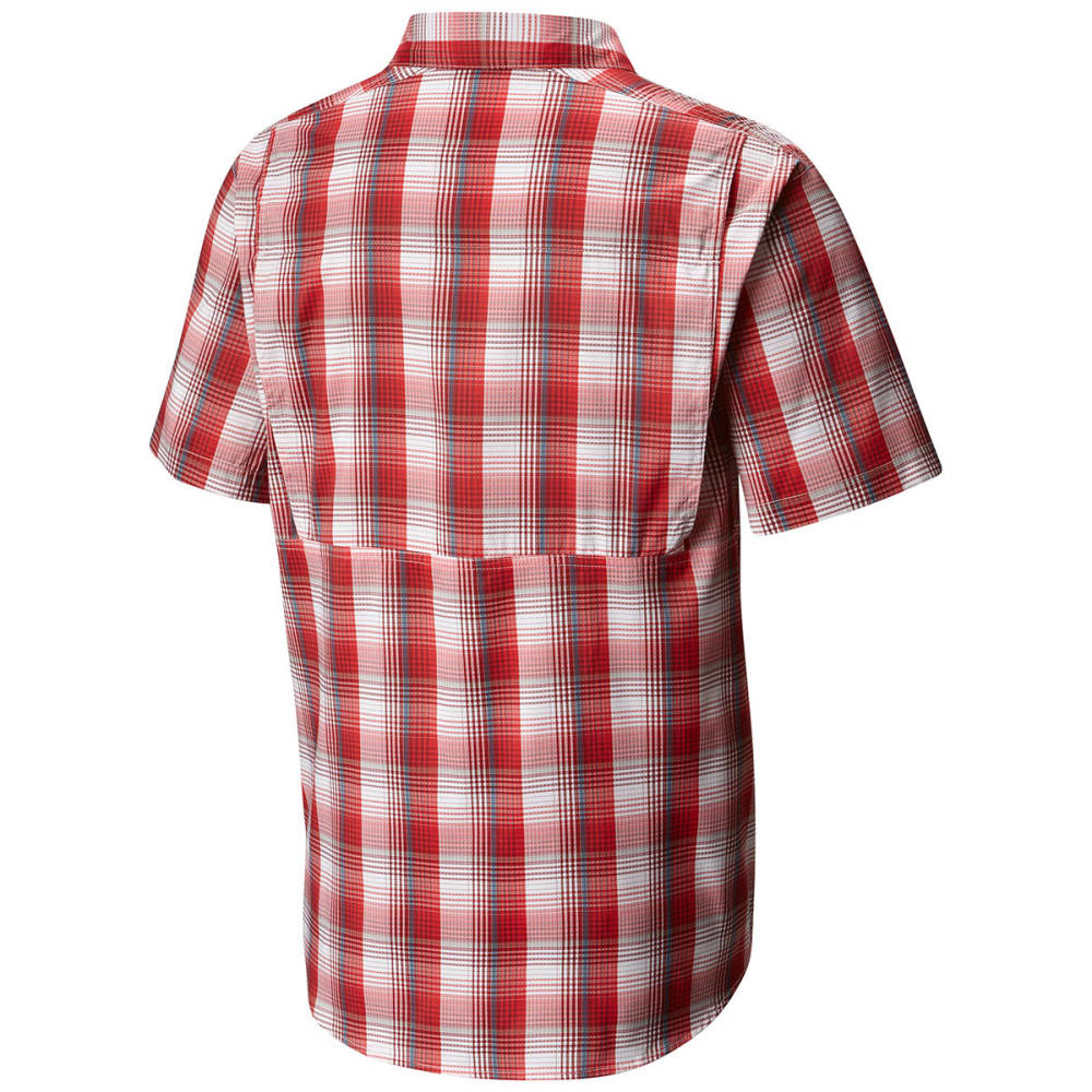COLUMBIA Men's Silver Ridge Lite Plaid Short-Sleeve Shirt - 696-RED SPARK PLAID