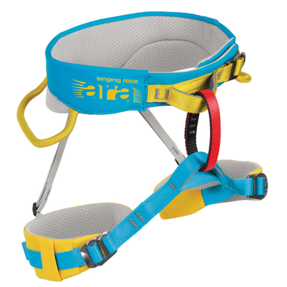 SINGING ROCK Ara Children's Sit Harness, Blue/Yellow - BLUE/YELLOW