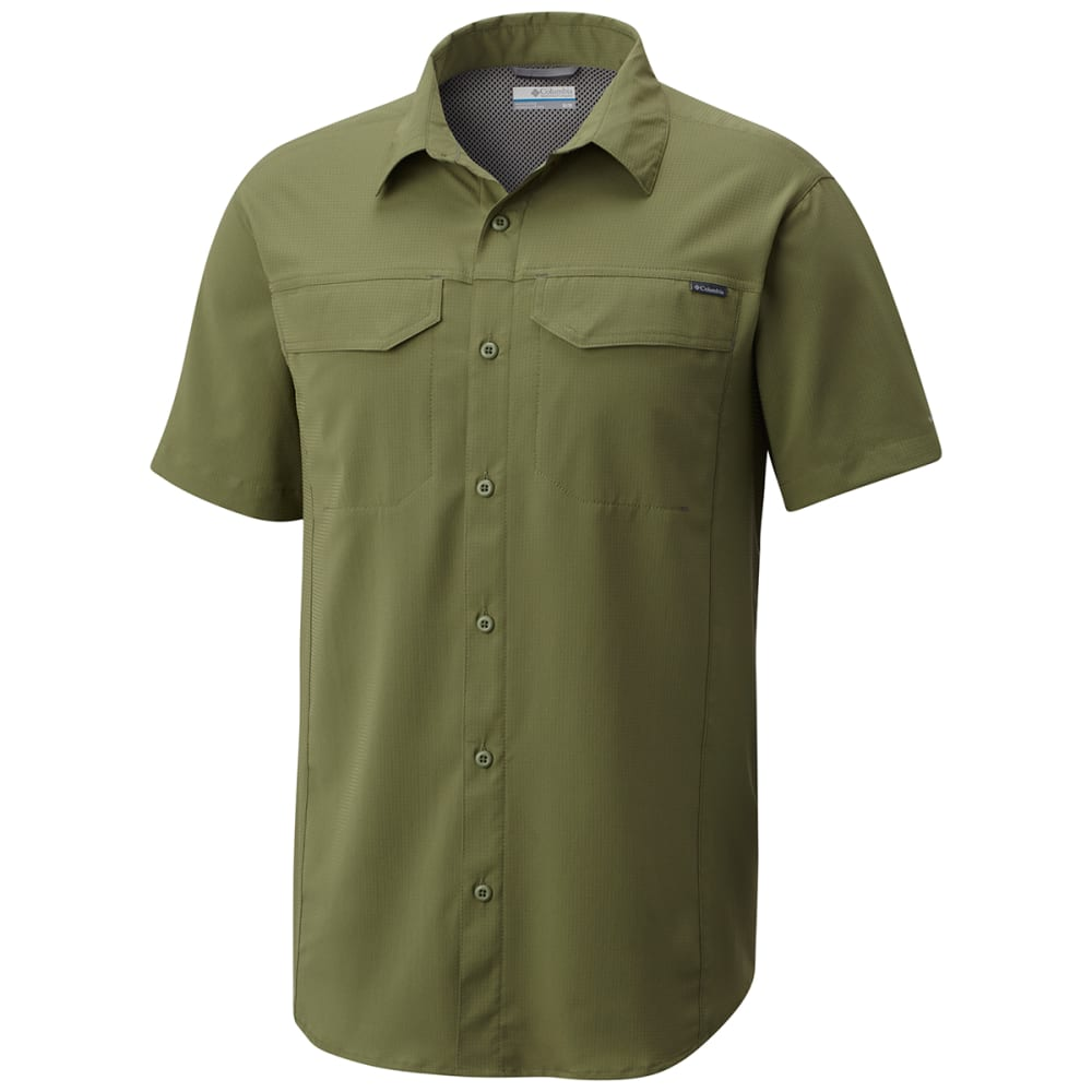 COLUMBIA Men's Silver Ridge Lite Short-Sleeve Shirt - 302-MOSSTONE