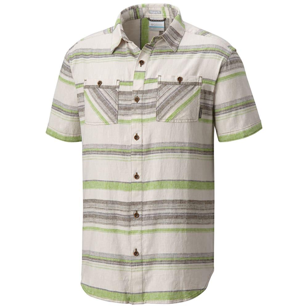 COLUMBIA Men's Southridge Yard-Dye Short-Sleeve Shirt - 213-PEATMOSS STRIPE