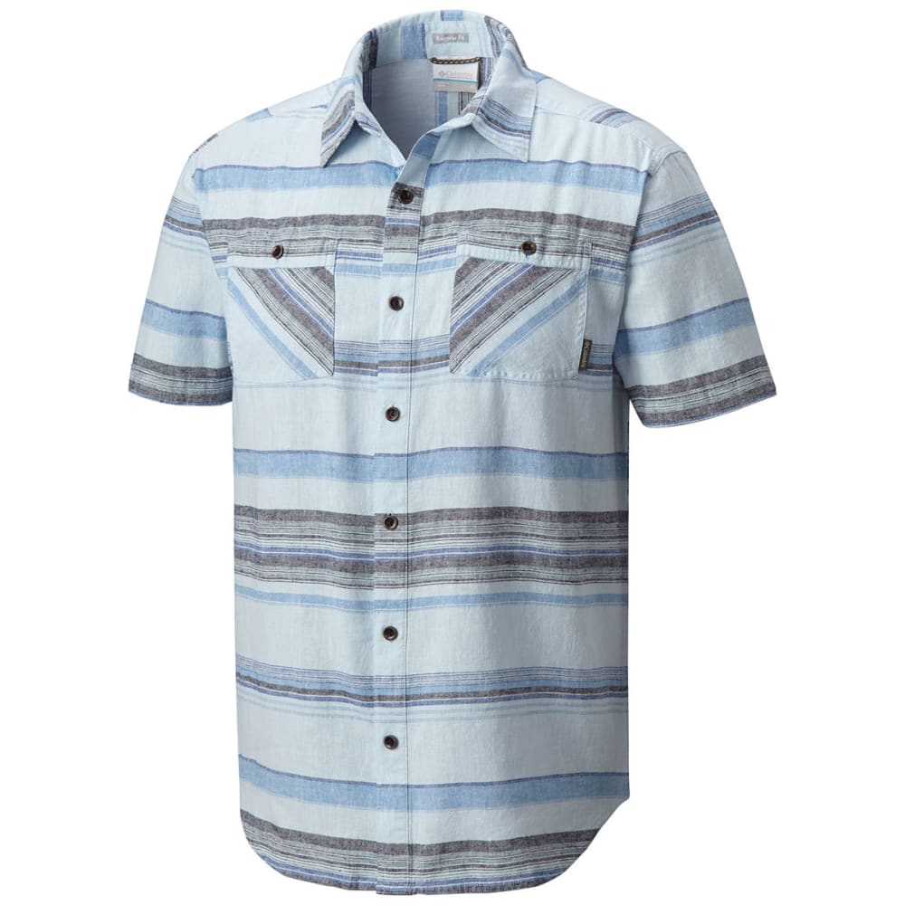COLUMBIA Men's Southridge Yard-Dye Short-Sleeve Shirt - 412-AIR STRIPE