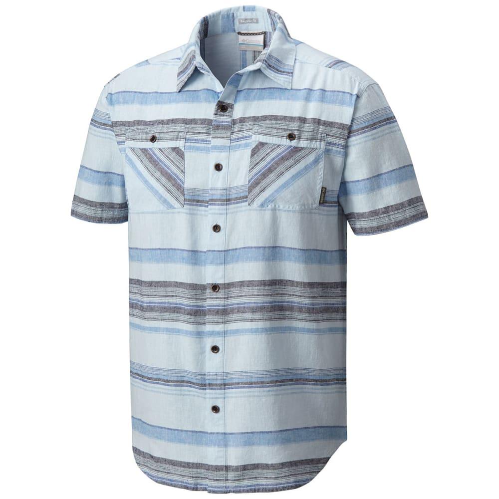 COLUMBIA Men's Southridge Yard-Dye Short-Sleeve Shirt - 412-AIR STRIPE