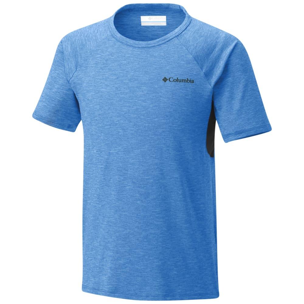 COLUMBIA Big Boys' Silver Ridge II Short-Sleeve Tee - SUPER BLUE HTR-438