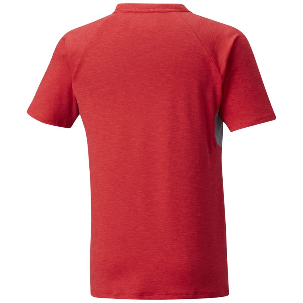 COLUMBIA Big Boys' Silver Ridge II Short-Sleeve Tee - BRIGHT RED HTR-691