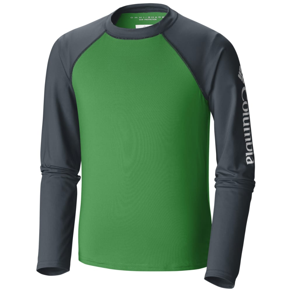 COLUMBIA Big Boys' Mini Breaker Long-Sleeve Sunguard - FUSE GRN-346
