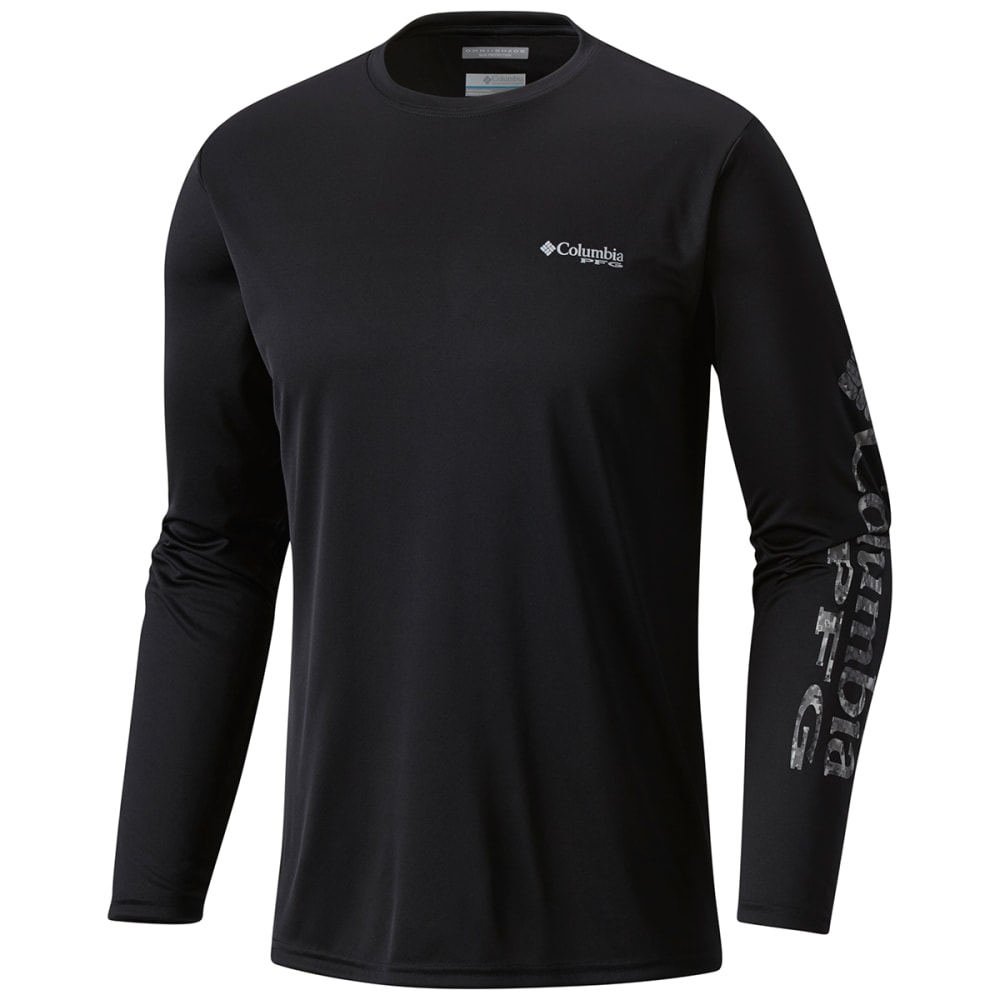 COLUMBIA Men's Terminal Tackle PFG Long-Sleeve Shirt - 011-BLACK