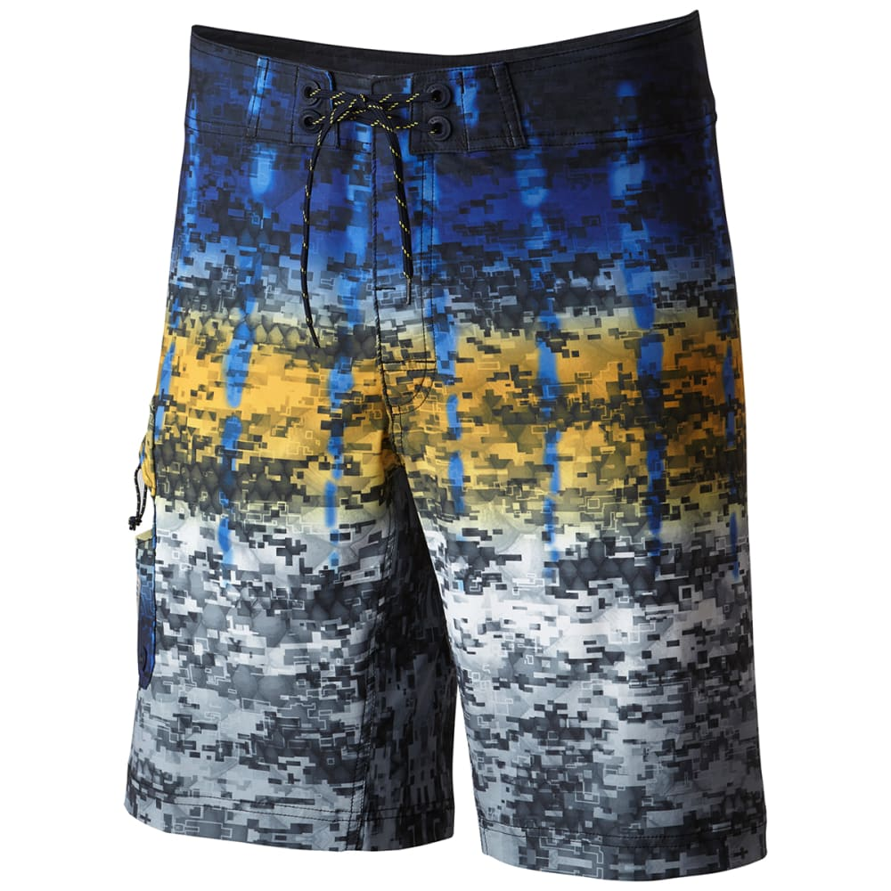 COLUMBIA Men's PFG Offshore Camo Fade Boardshorts - 903-MARLIN