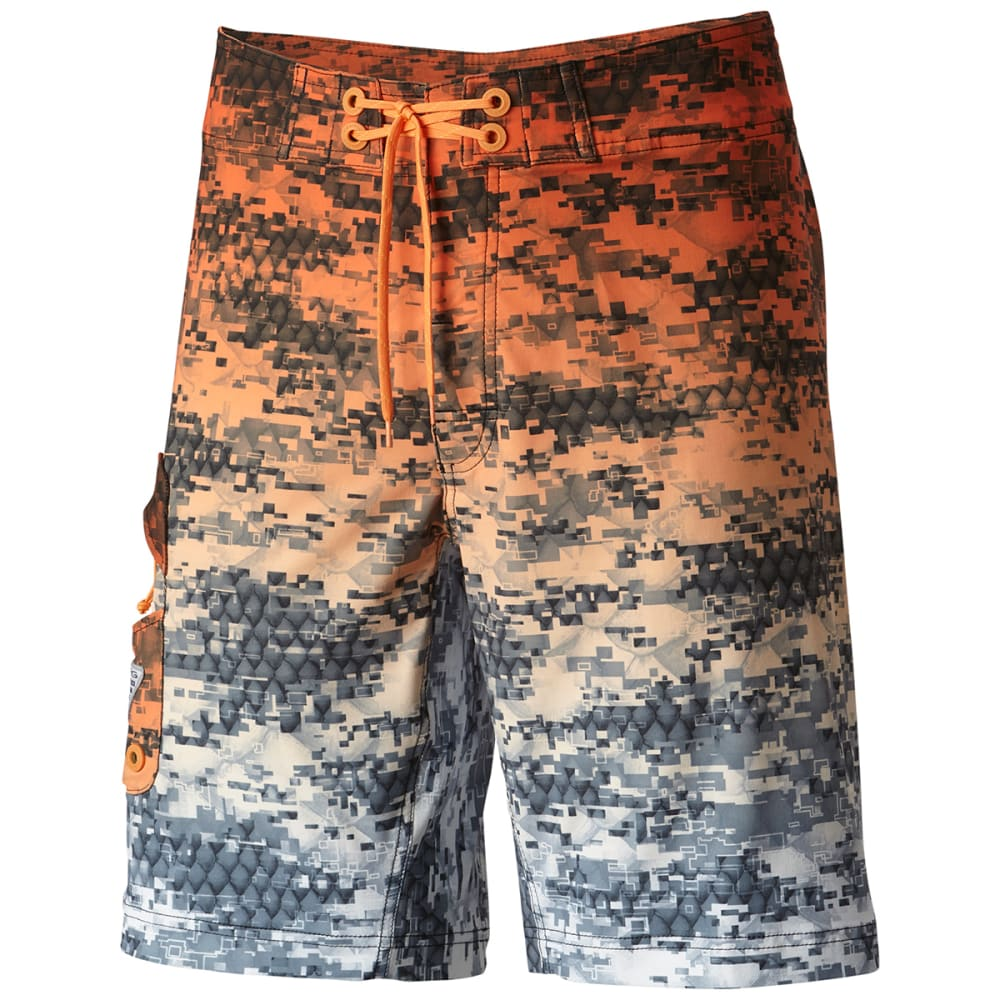 COLUMBIA Men's PFG Offshore Camo Fade Boardshorts - 905-CDR REDFISH