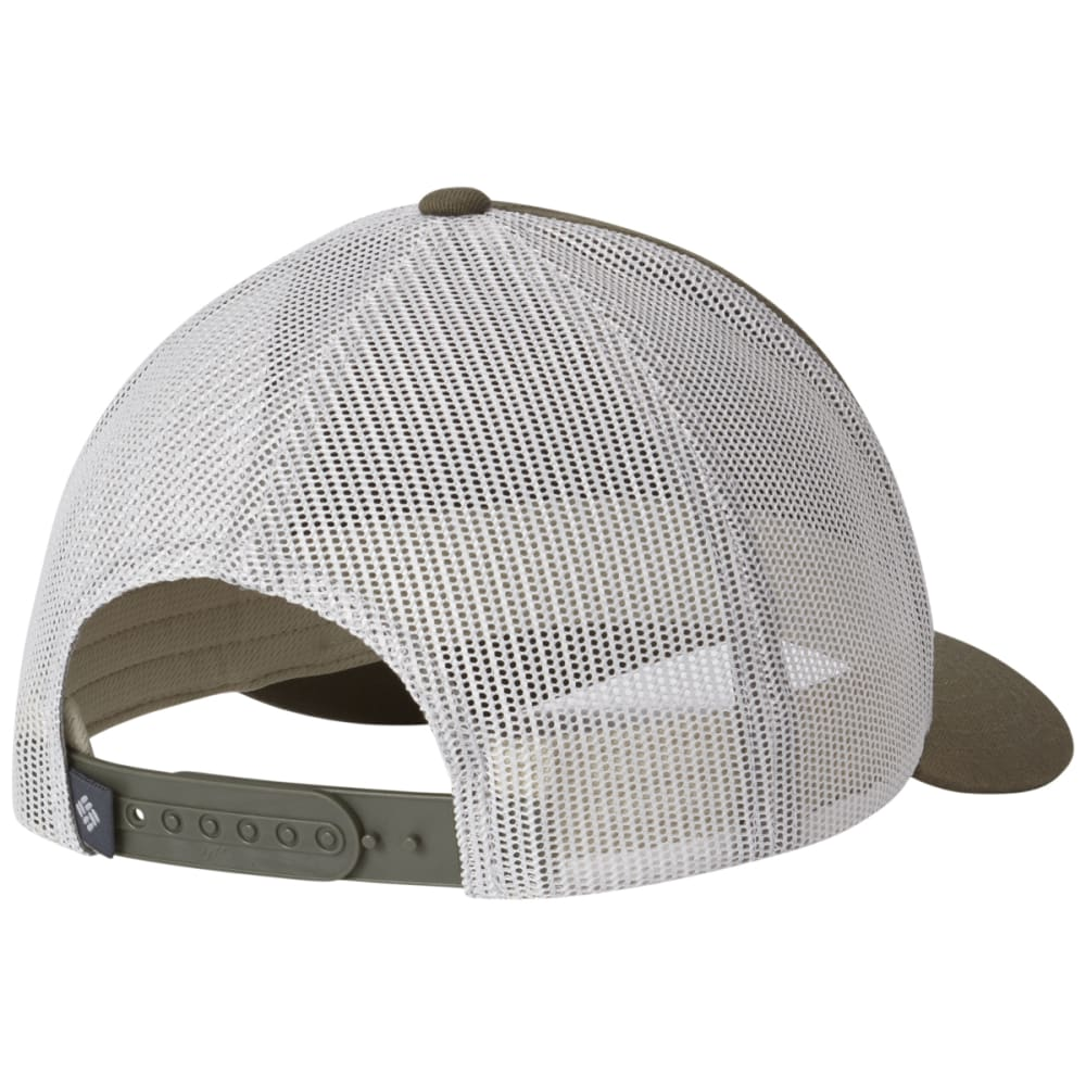 COLUMBIA Men's Mesh Snap Back Ball Cap - 213-PEATMOSS EVERGRE