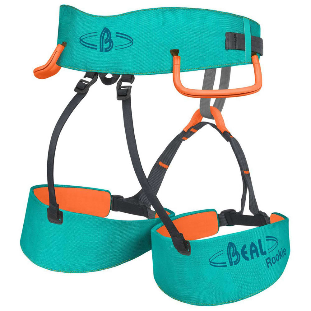 BEAL Rookie Children's Sit Harness, Orange/Blue - ORANGE/BLUE