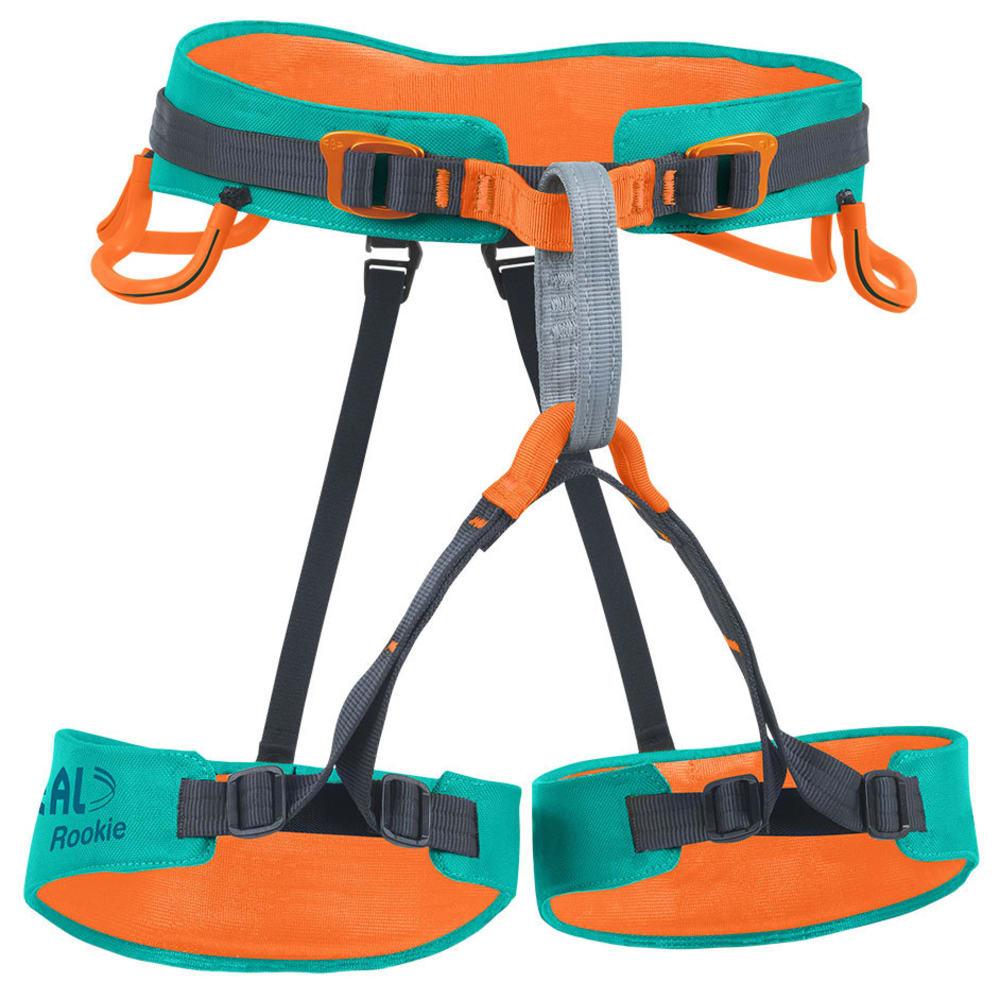 BEAL Rookie Children's Sit Harness, Orange/Blue ONE SIZE