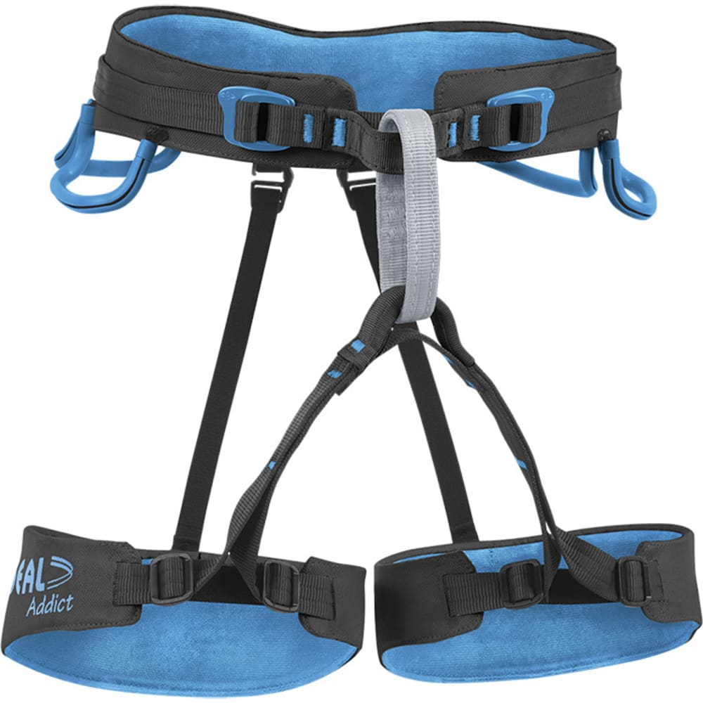 BEAL Addict Size 1 Harness, Black/Blue - BLACK/BLUE