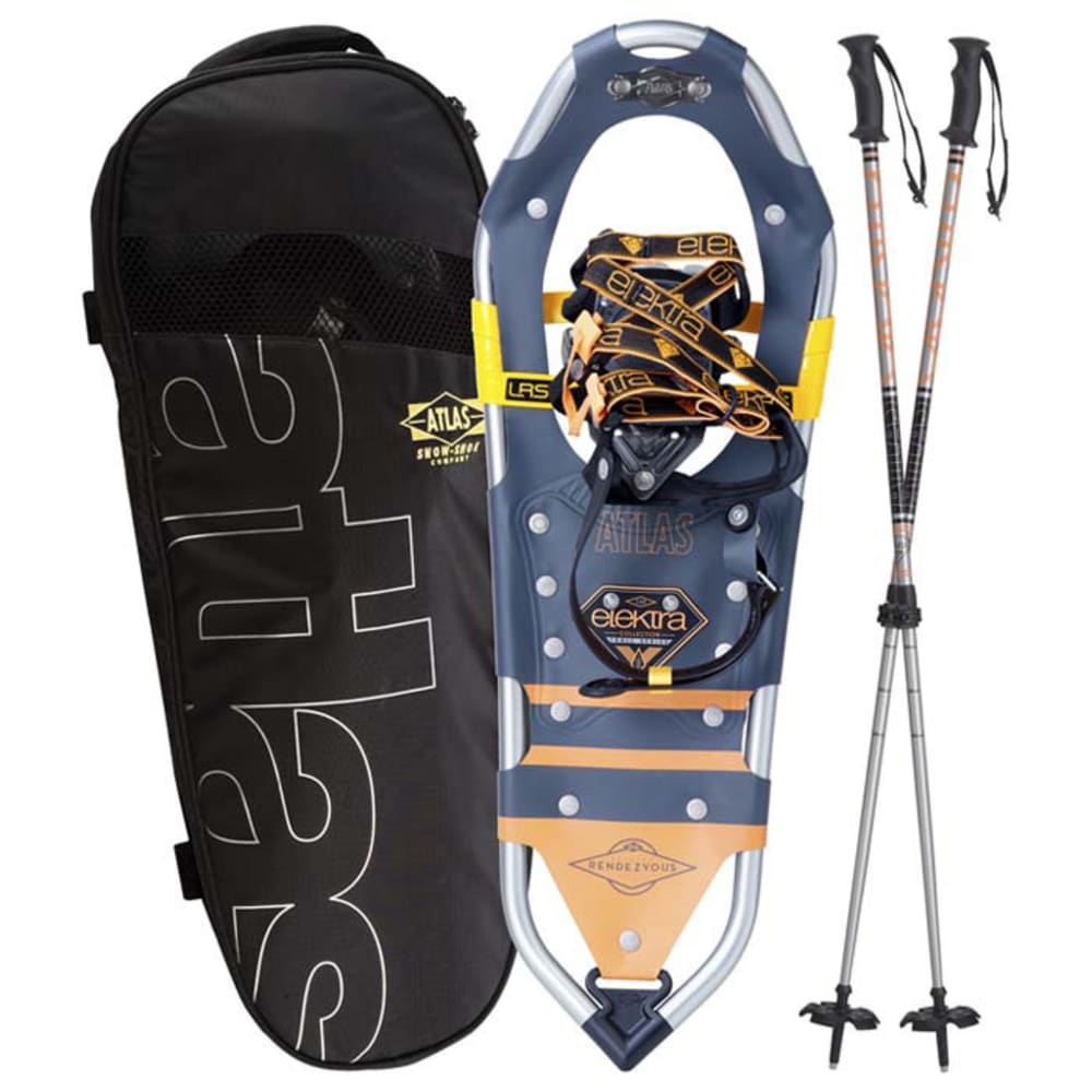 ATLAS Elektra Rendevous 23 Kit Snowshoes Kit, Grey - GREY
