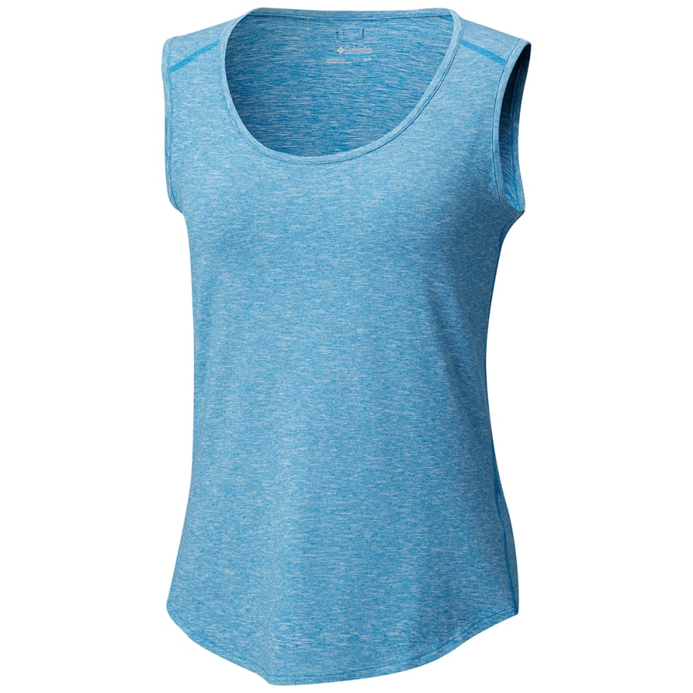 COLUMBIA Women's Wander More Tank Top - 455-DK CYAN HTR