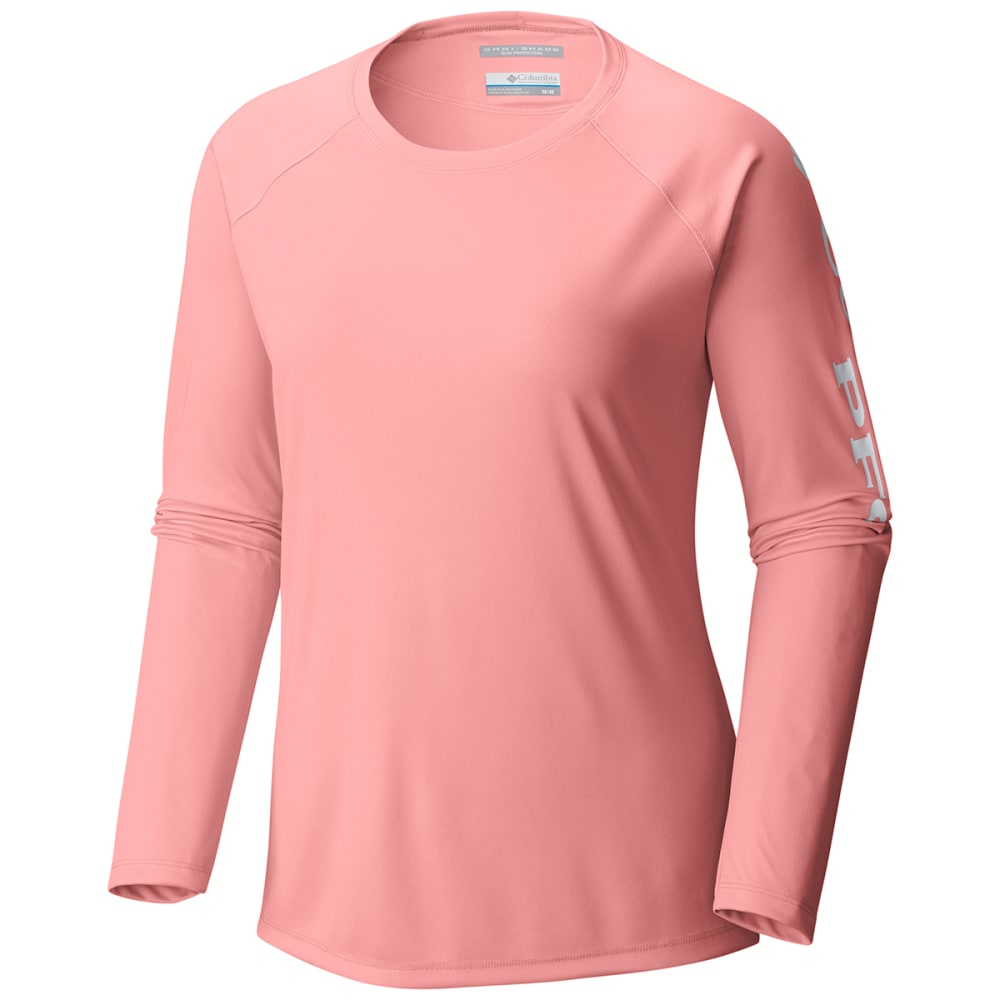 COLUMBIA Women's PFG Tidal Tee™ II Long-Sleeve Shirt - 884-TIKI PINK LOGO