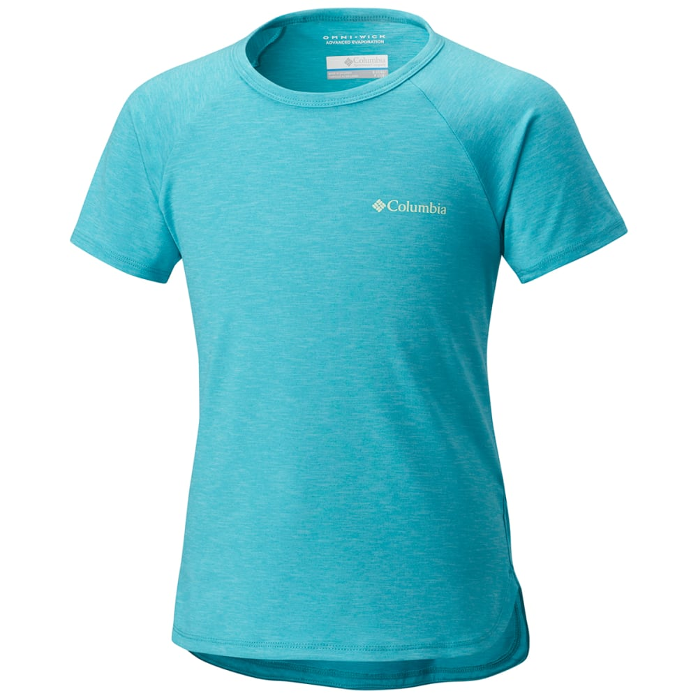 COLUMBIA Big Girls' Silver Ridge™ II Short-Sleeve Tee - 732-GEYSER HTR