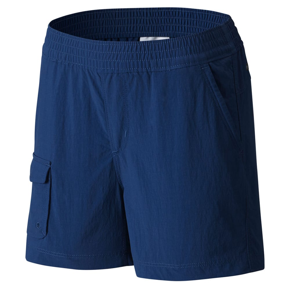 COLUMBIA Big Girls' Silver Ridge Pull-On Shorts - 469-CARBON