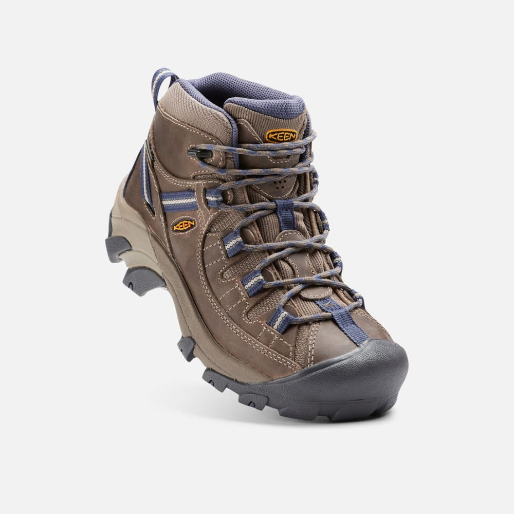 008f4ee101a KEEN Women's Targhee II Mid Waterproof Hiking Boots, Goat/Crown Blue