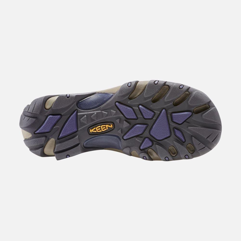 KEEN Women's Targhee II Mid Waterproof Hiking Boots, Goat/Crown Blue - GOAT/CROWN BLUE