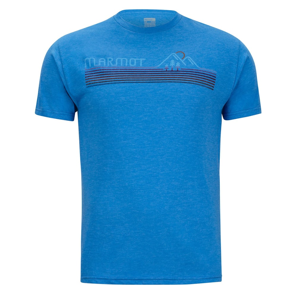 MARMOT Men's Line Set Tee Short-Sleeve - 8556-ROYAL HTR