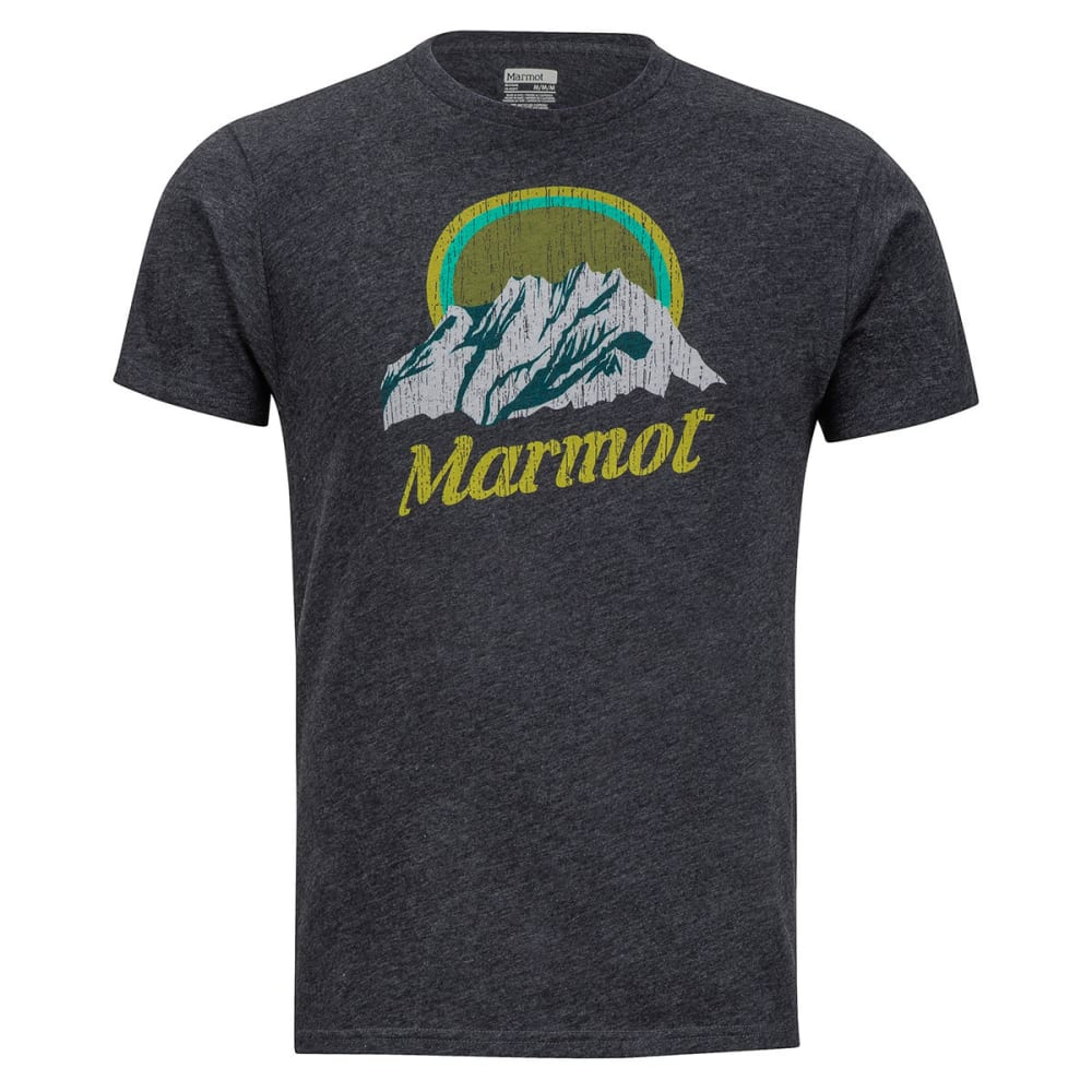 MARMOT Men's Pikes Peak Tee Short-Sleeve - 1837-NEW CHARCOAL