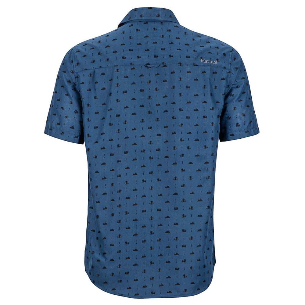 MARMOT Men's Notus Short-Sleeve Shirt - 2636-VINTAGE NAVY