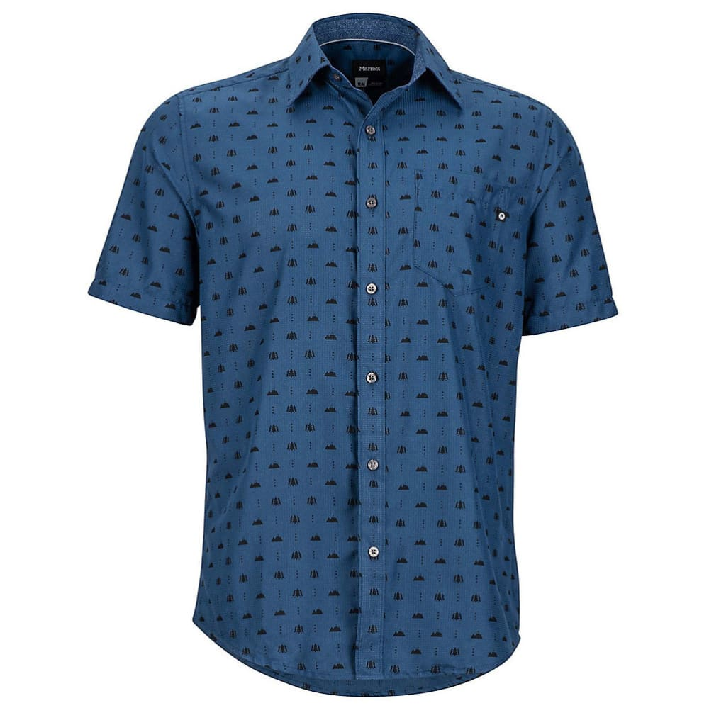 MARMOT Men's Notus Short-Sleeve Shirt - 2636-VINTAGE NAVY