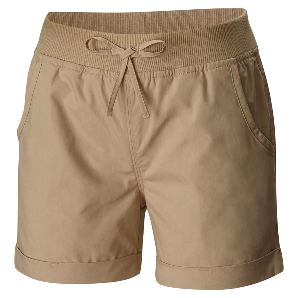 COLUMBIA Big Girls' 5 Oaks II Pull-On Shorts - 265-BRITISH TAN
