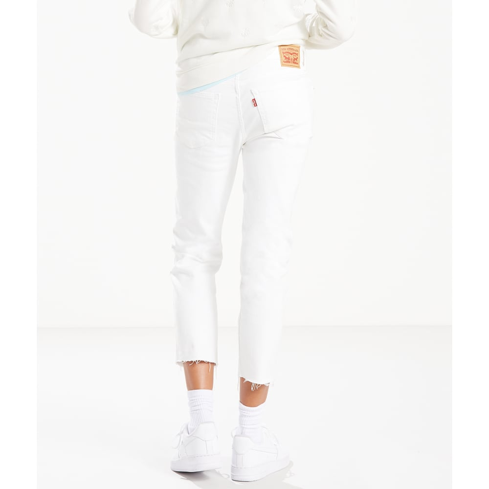 LEVI'S Women's Boyfriend Unrolled Jeans - 0000-LITTLE WHITE LI
