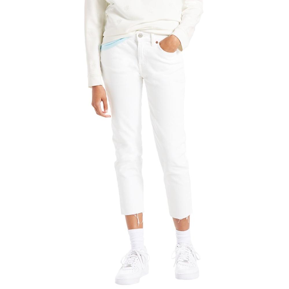 LEVI'S Women's Boyfriend Unrolled Jeans - 0000-LITTLE WHITE LI