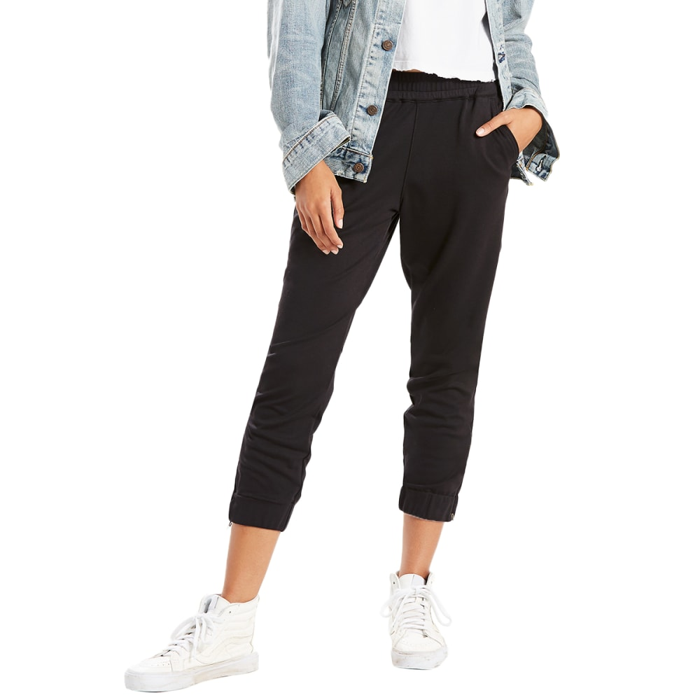 LEVI'S Women's Jet Set Zip-Hem Tapered Pants - 0002-COMFY BLACK