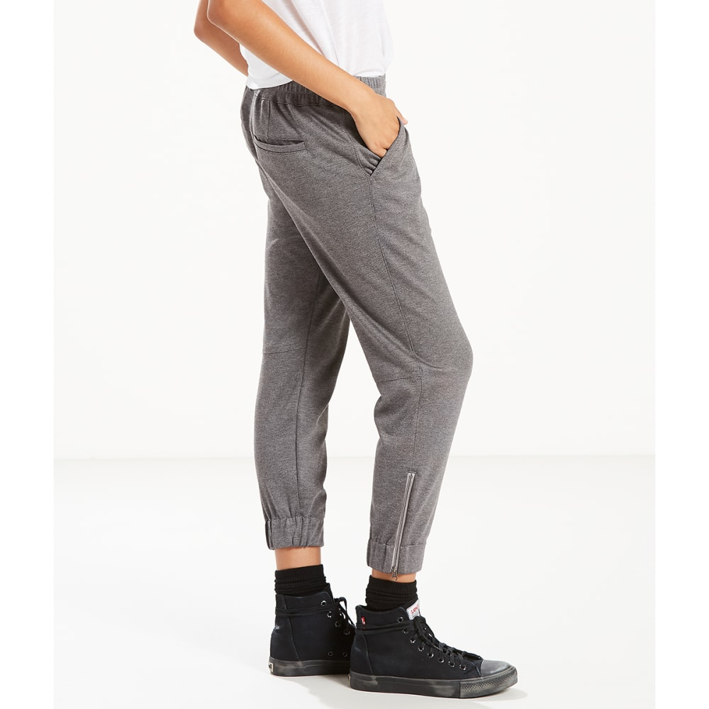 LEVI'S Women's Jet Set Zip-Hem Tapered Pants - 0005-COMFY HEATHER G