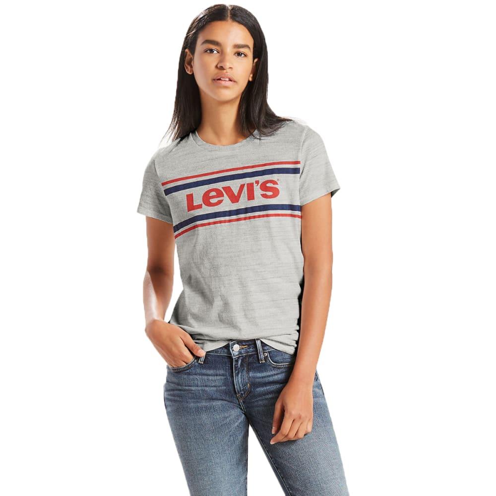 LEVI'S Women's Perfect Graphic Tee - 0064- SPORTSWEAR LOG