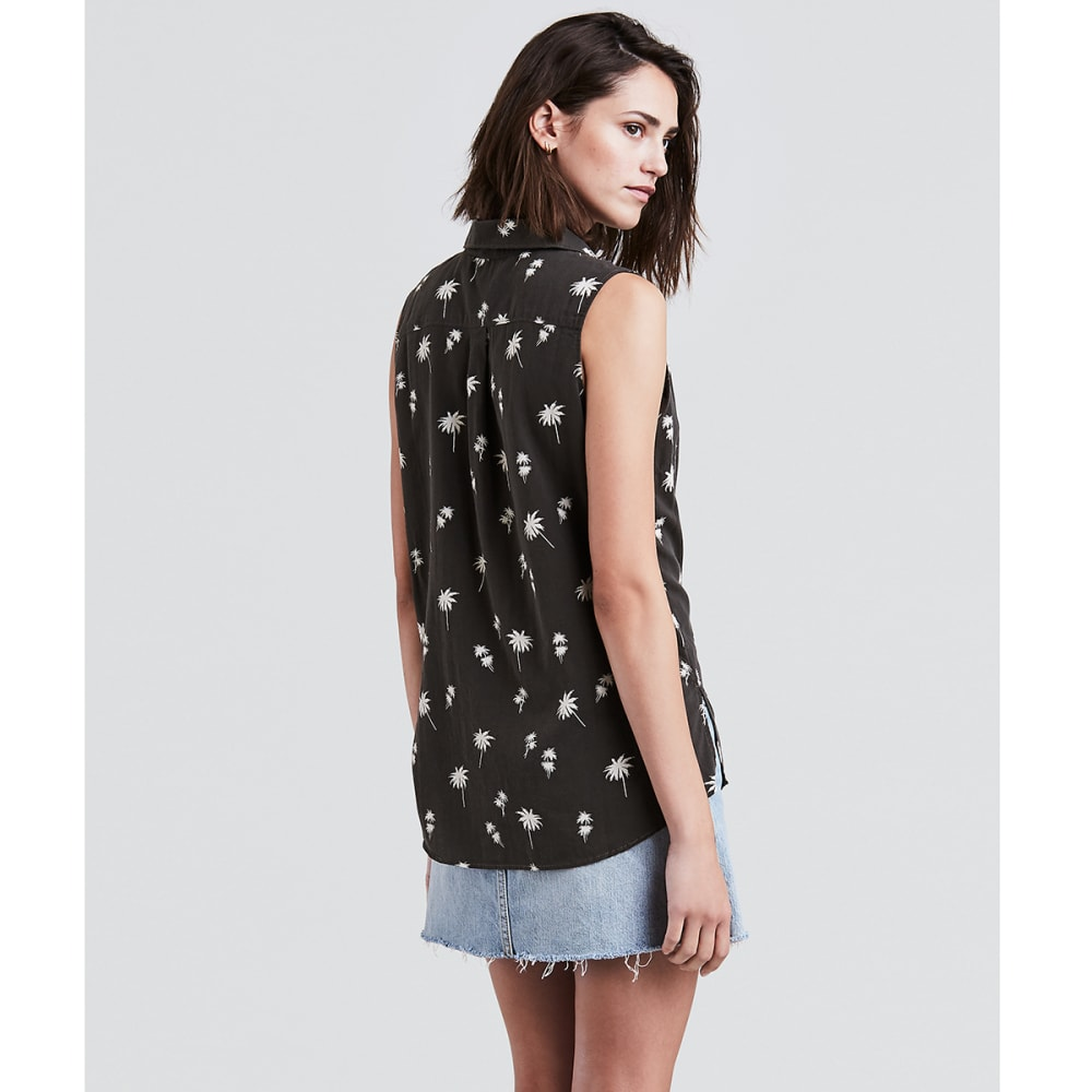 LEVI'S Women's Coralie Sleeveless Shirt - 0003-CERRITOS OBSIDA