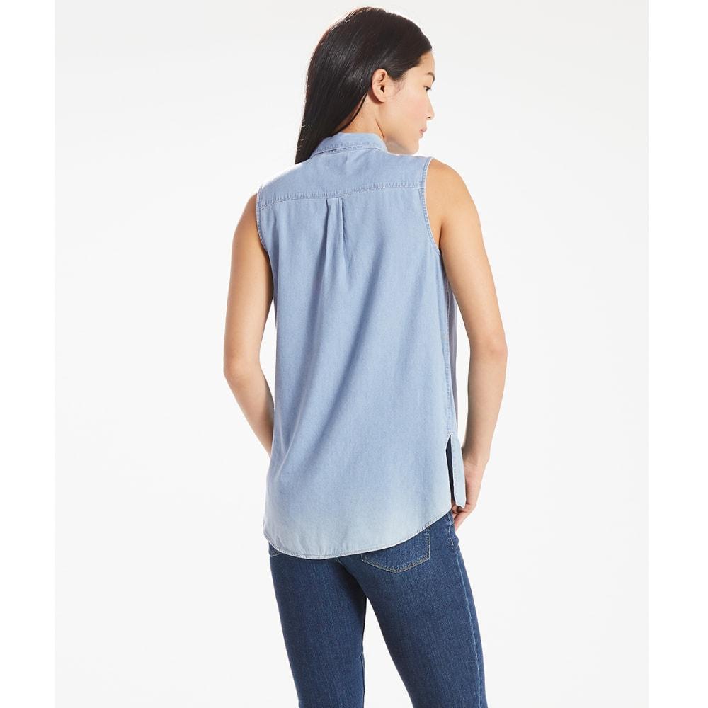 LEVI'S Women's Coralie Sleeveless Shirt - 0000-LIGHT WASH