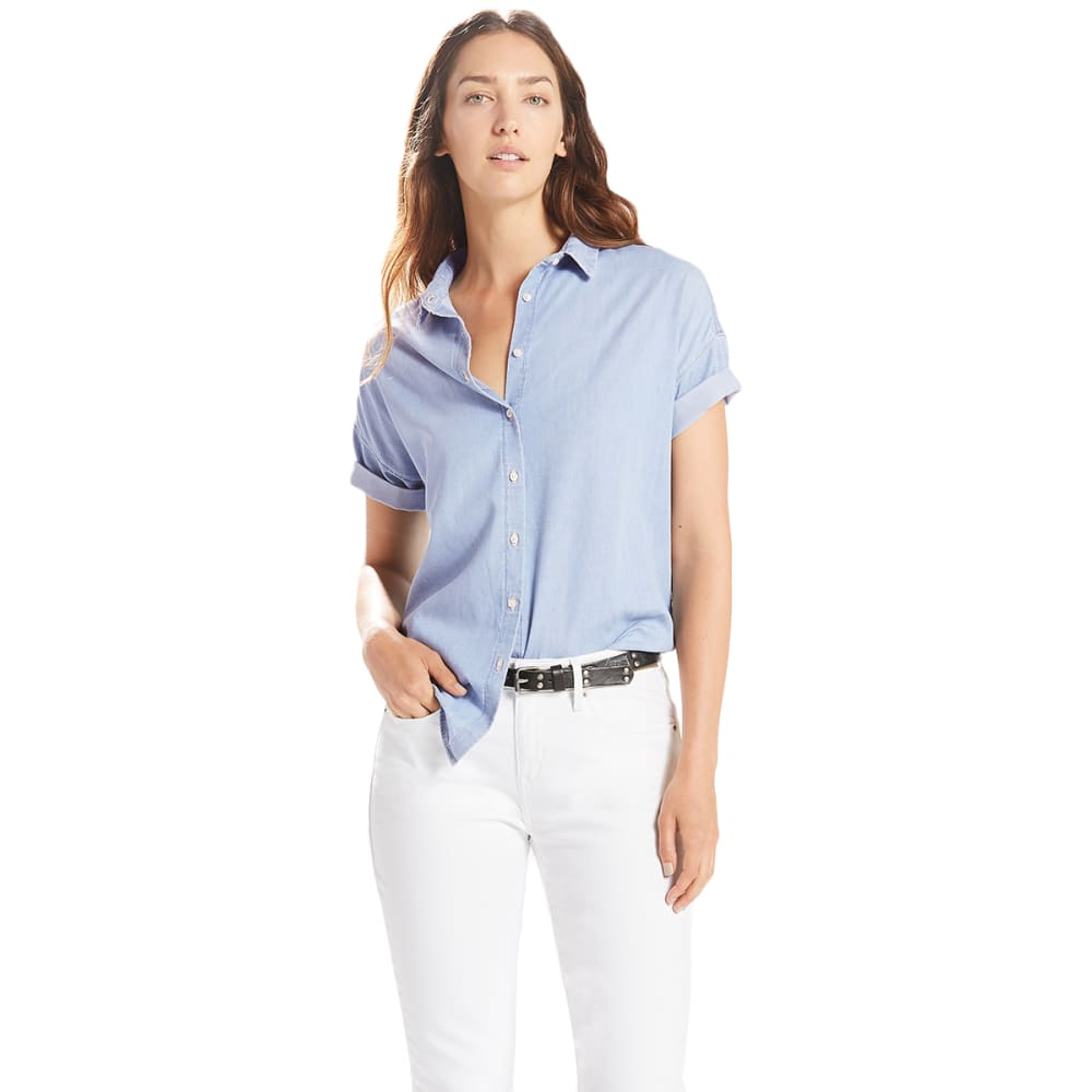LEVI'S Women's Sadie Short-Sleeve Shirt - 0000-LIGHT WASH