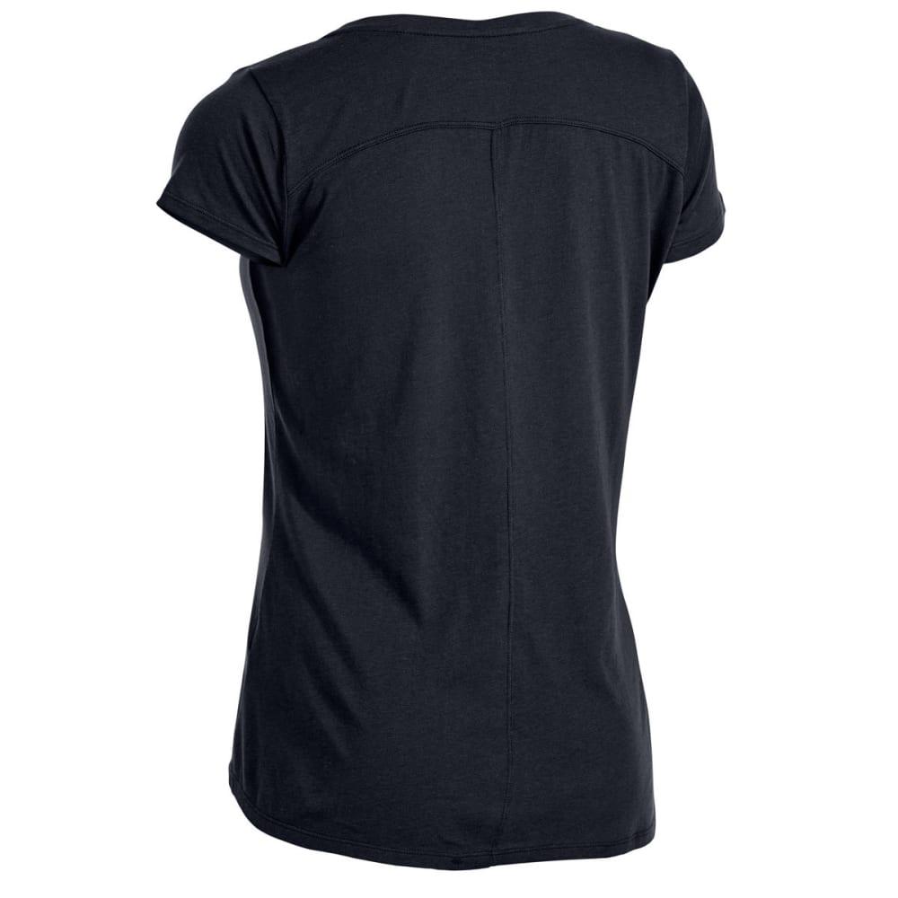 EMS Women's Serenity V-Neck Short-Sleeve Pocket Tee - BLACK